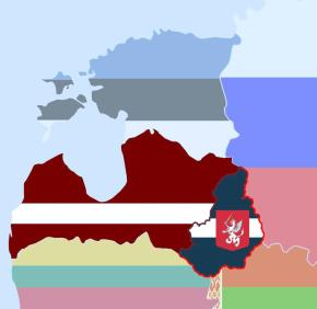 ©  Е.Ю.Осипов, 2012 / административно-политическая карта Латгальской автономии в составе Латвии, была подготовлена в качестве наглядного материала для прошедшей 8 декабря 2012 в Даугавпилсе научно-практической конференции «Автономия Латгалии: политический, правовой, экономический, историко-культурный аспекты»
